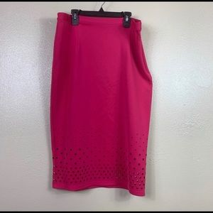 Spense pink pencil skirt